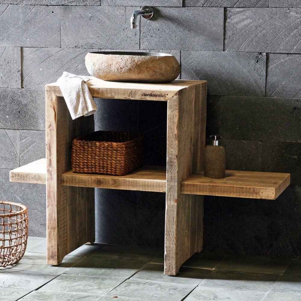 Rustikales badezimmer dekor diy bauholz waschtisch mehr  barhroom wood ideals  pinterest  bath