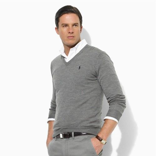 Man style · my two favorite things...Ralph Lauren and the color gray :-)