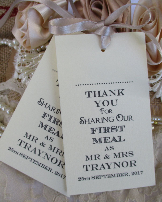 Name Place Tags - Napkin Ties-Wedding Table Decor Handmade ...