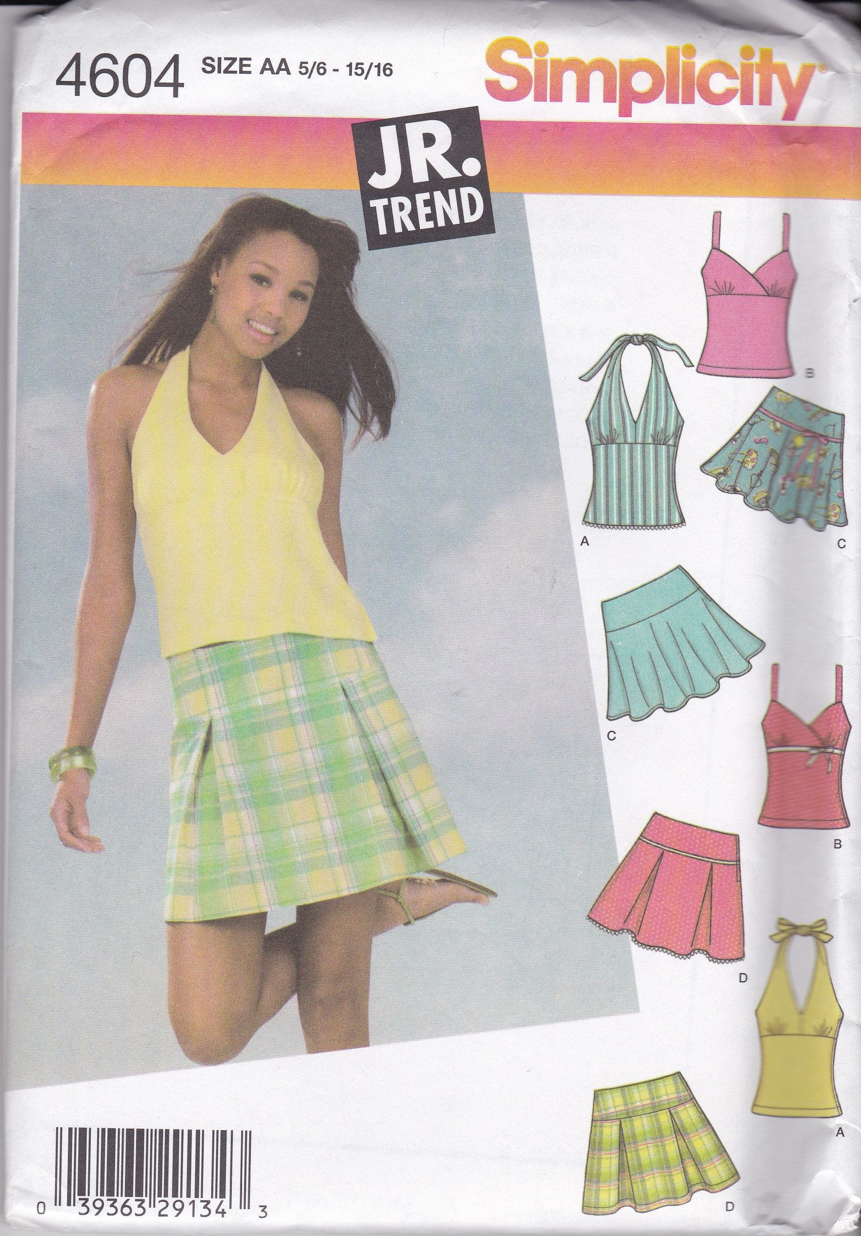 Misses Tops Pants Skirt Simplicity Pattern 1112 In K Designs Uncut Shorts
