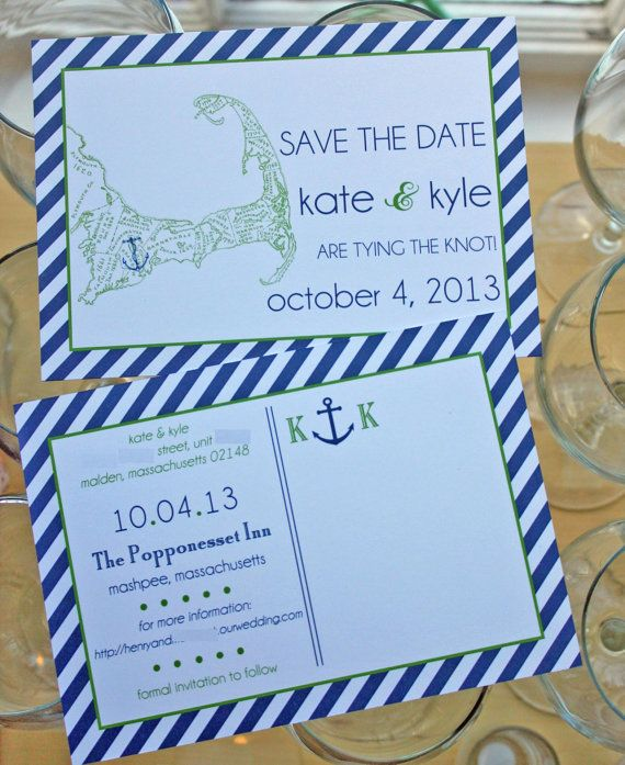 Cape Cod Sunday Brunch Part - 29: Preppy Nautical Cape Cod Save The Date By PinkPolkaDotEvents, $2.25