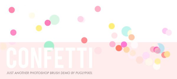 Confetti Photoshop brush tutorial (Pugly Pixel).