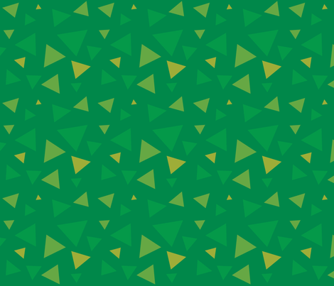 Colorful Fabrics Digitally Printed By Spoonflower Triangle Grass
