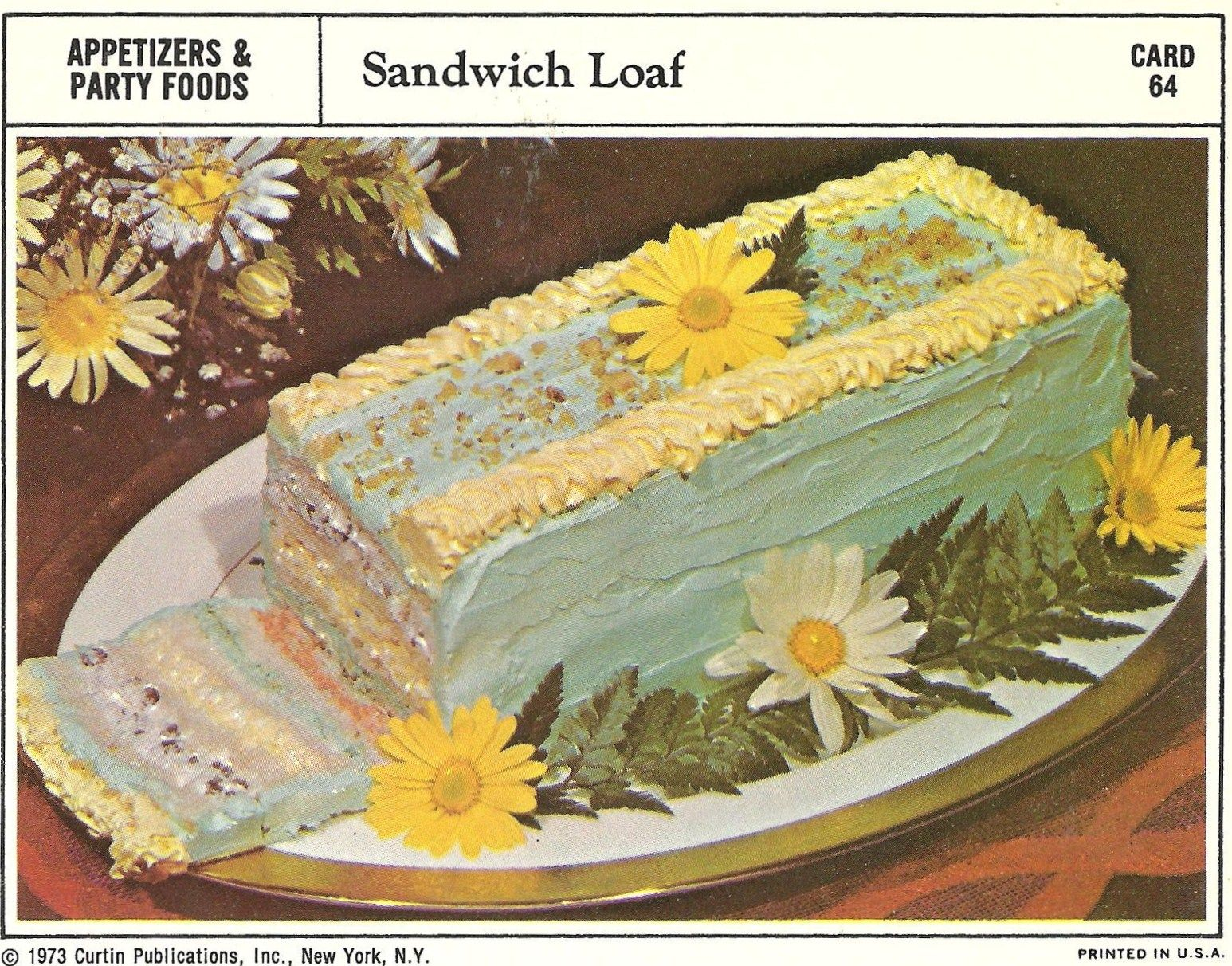 Gross vintage recipes 1950s dont see this innovat ive ritz bad and ugly of retro food sheesh recipe cards sandwich loaf cake forumfinder Images