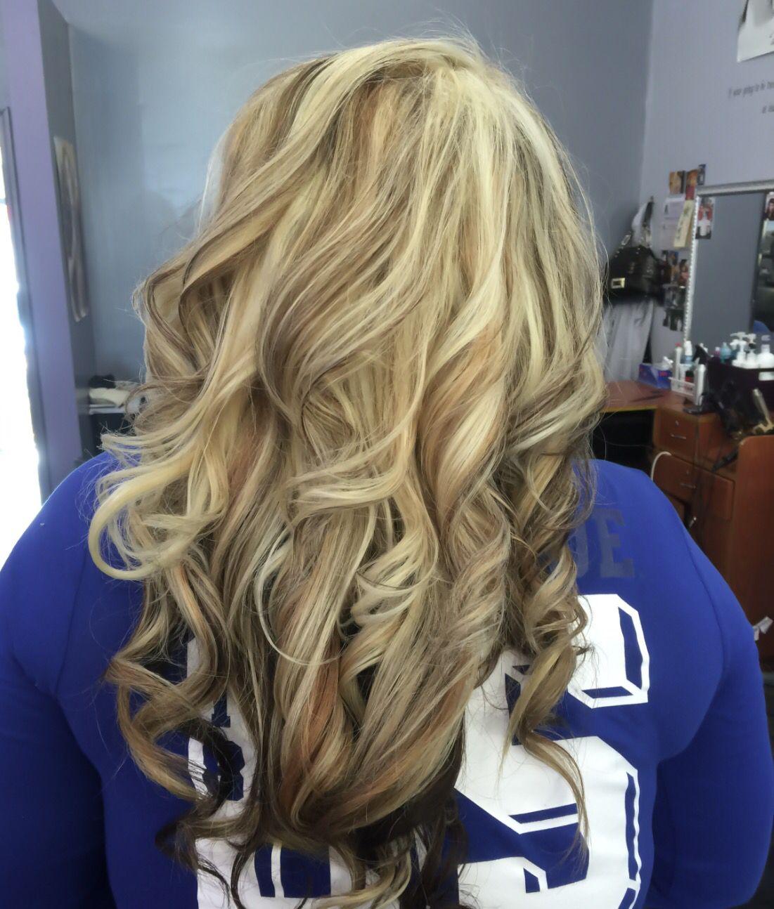 Light caramel blonde hair color