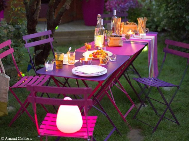 Table de jardin rose | Spa amiens sonails