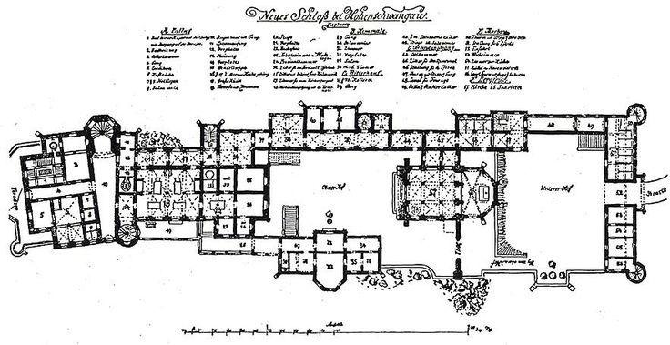 Neuschwanstein Castle Neuschwanstein Castle Castle Floor Plan Germany Castles