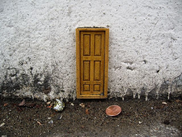 tiny door by peephole & tiny door by peephole | tiny doors | Pinterest