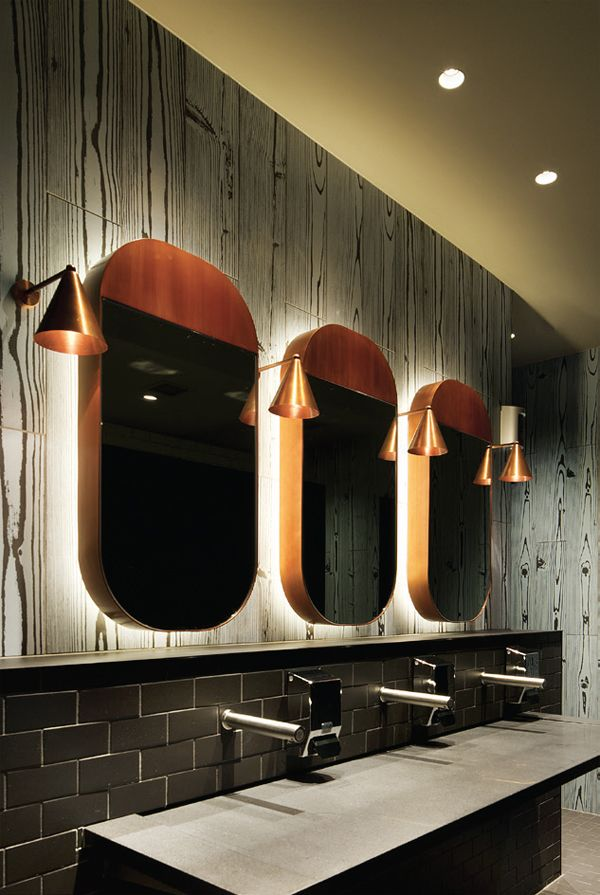 Bathroom Mirrors Melbourne jimboandremimdesign crown restaurant bathroom mirrors: restaurant