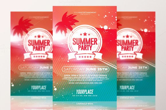 Summer Party | Flyer Template by @Graphicsauthor