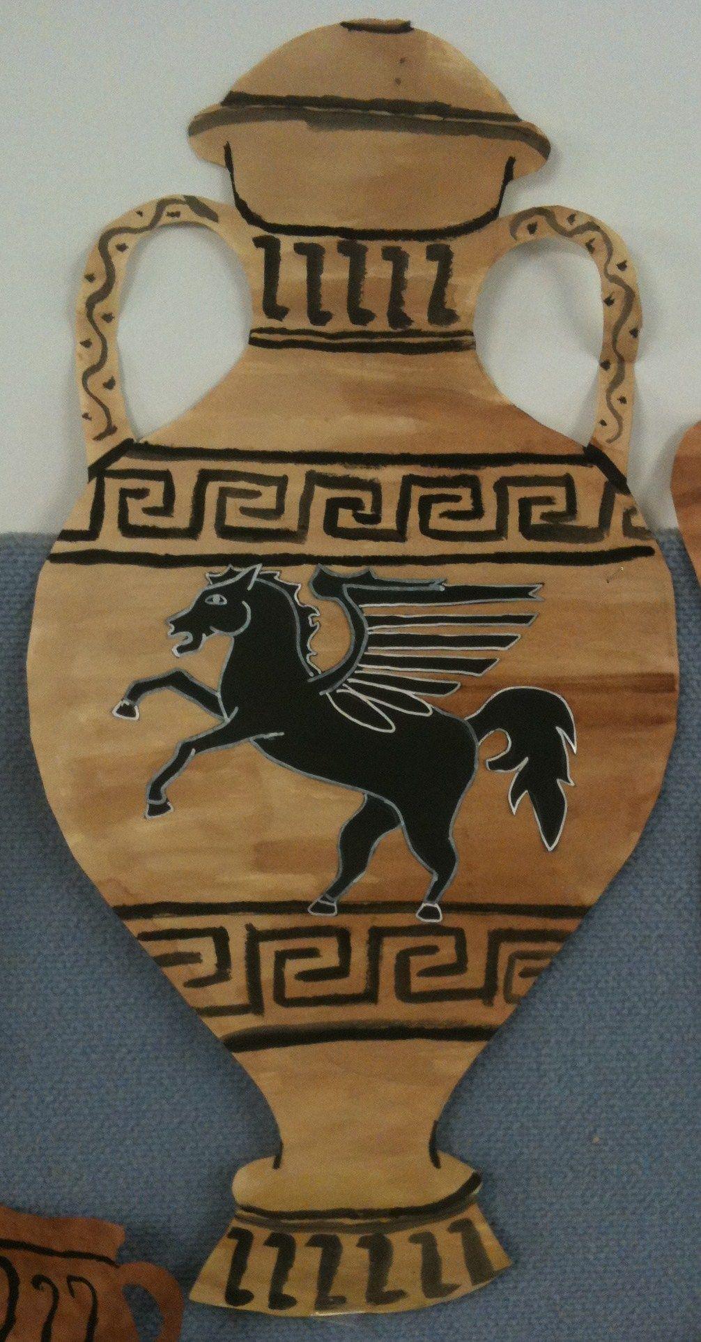 Ancient Greek Amphora - Ancient Greece Art and History Project Sixth/Seventh Grade