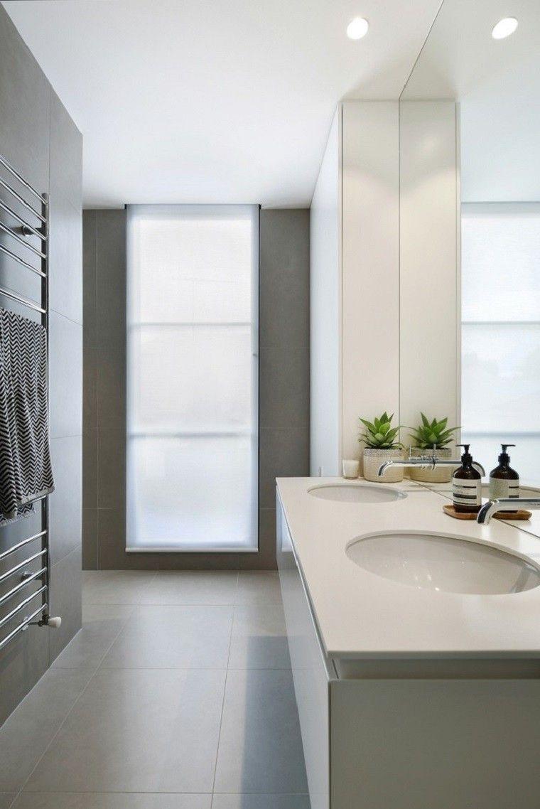 Interiores minimalistas baos modernos y elegantes  Baos