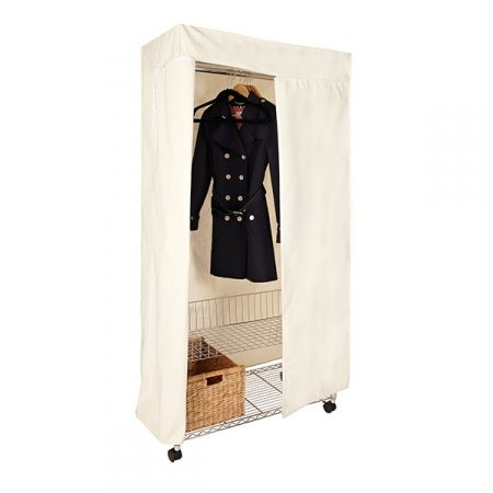 howards storage world wardrobe kit with canvas cover. Black Bedroom Furniture Sets. Home Design Ideas
