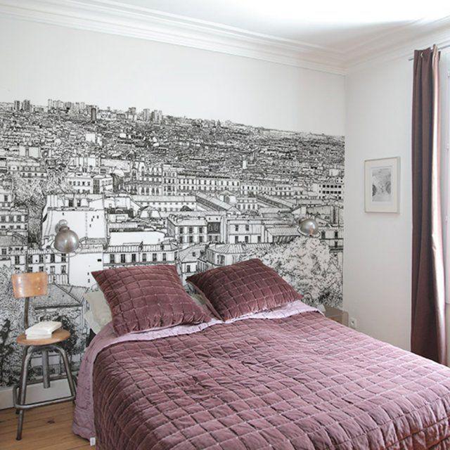 Papier Peint Panoramique Toits De Paris Ohmywall Fr En 2018 Deco