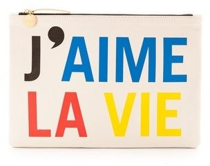 Clare V. J'aime La Vie Clutch. On sale during Shopbop sale. Made in USA