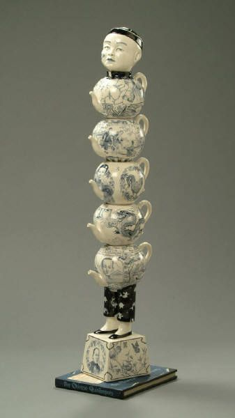 Artist: Red Weldon Sandlin, Title: The Chinese Quin Teapots -