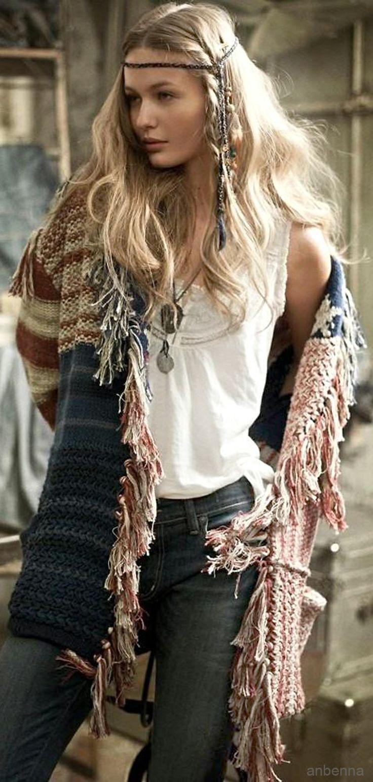 Hippie chic fringe kaftan for a boho chic style. FOLLOW http://www ...
