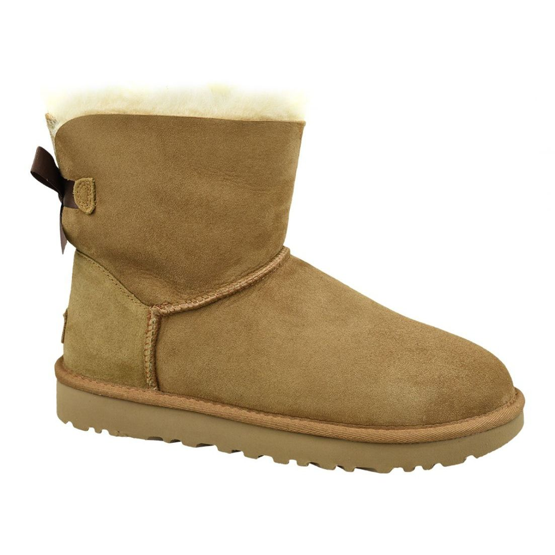 Buty Ugg Mini Bailey Bow Ii W 1016501 Che Brazowe In 2021 Ugg Mini Brown Boots Women Mini Baileys