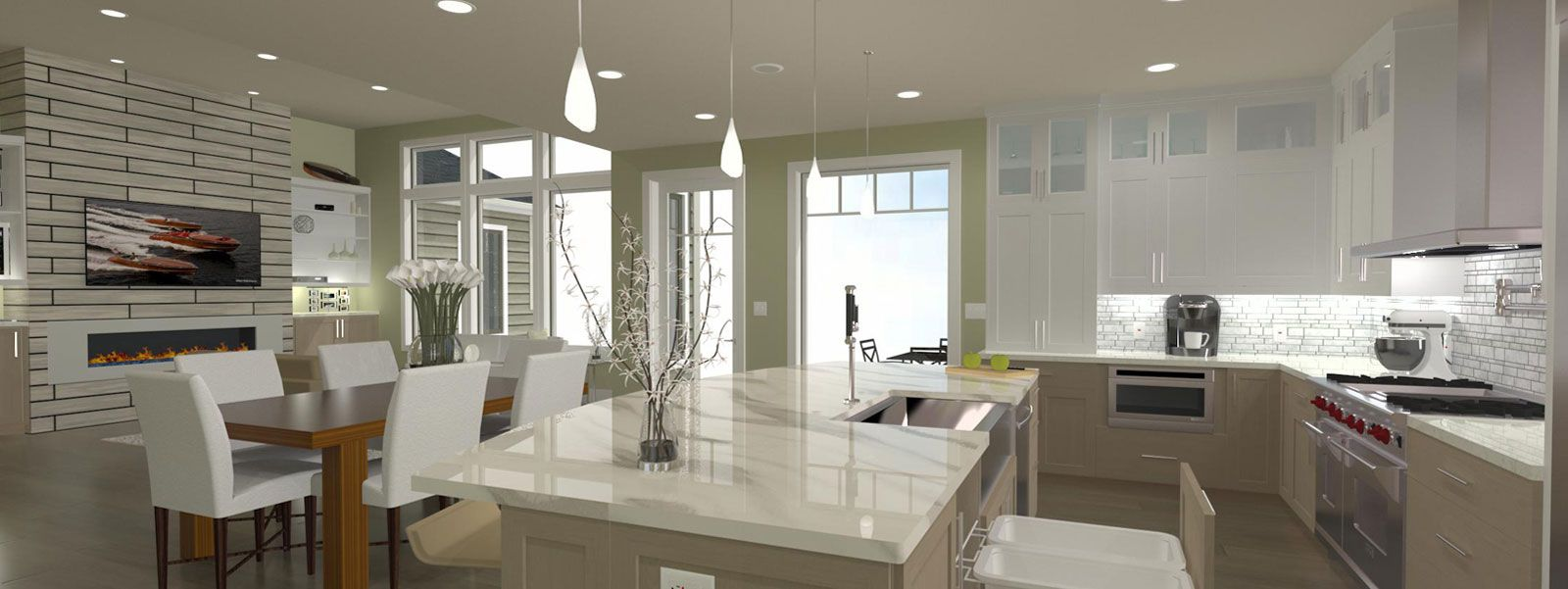 Technical Drawing Of A Kitchen Generated By Home Designer Free