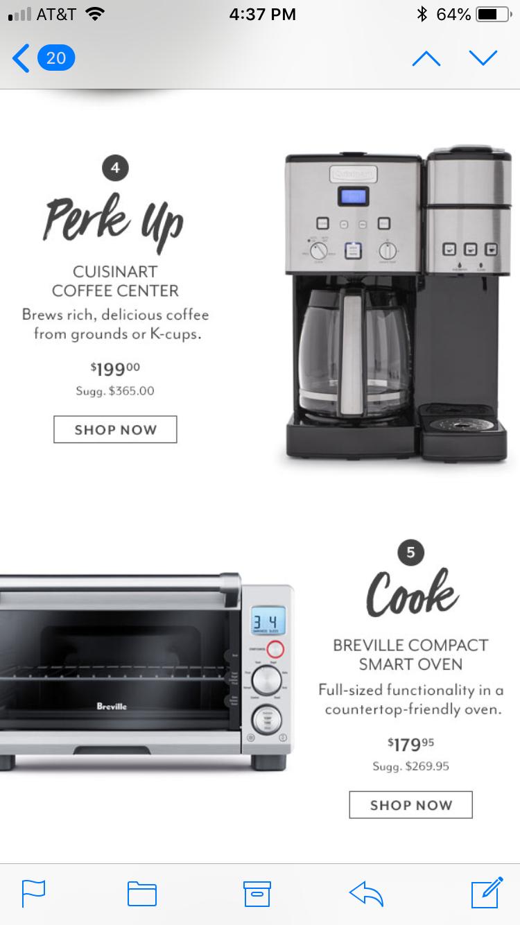 Pin By Lauren Manship On Kitchenware Coffee Center Smart Oven