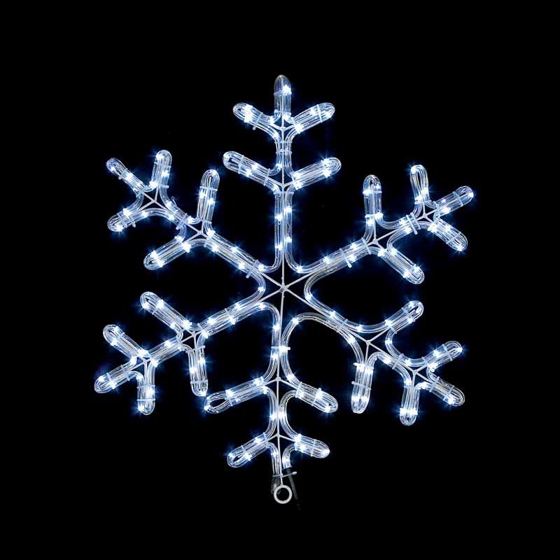 35cm Twinkling White Led Snowflake Rope Light