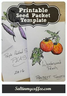 An Easy Printable Seed Packet For Saving Seeds