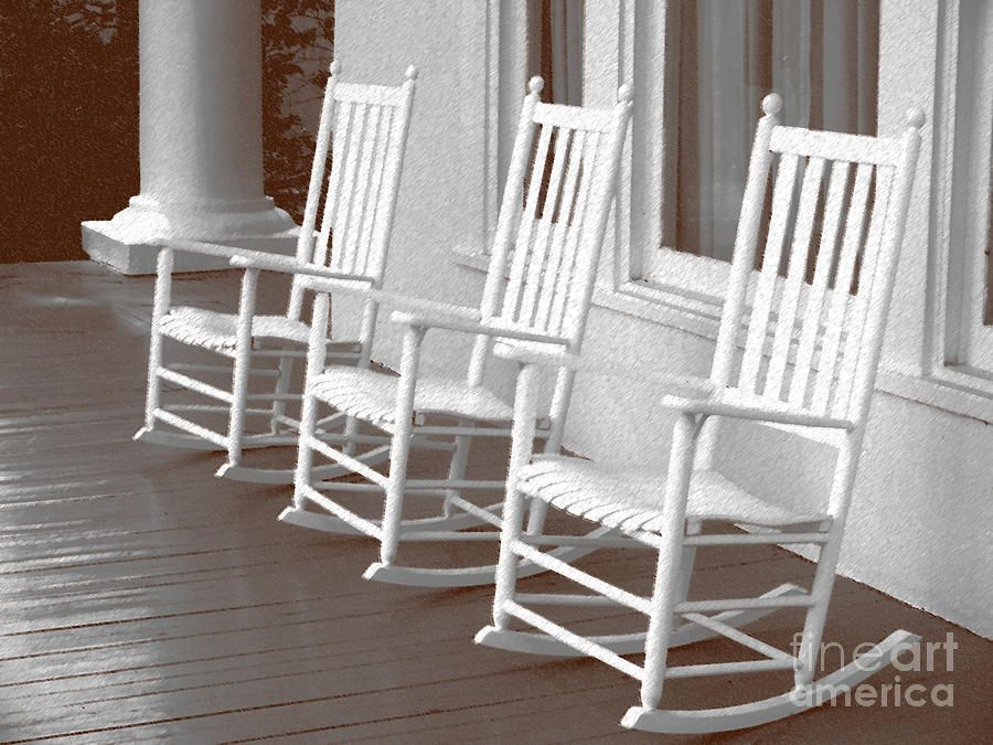 Rocking Chair Art | Rocking Chair Porch Painting By Audrey Peaty   Rocking  Chair Porch .