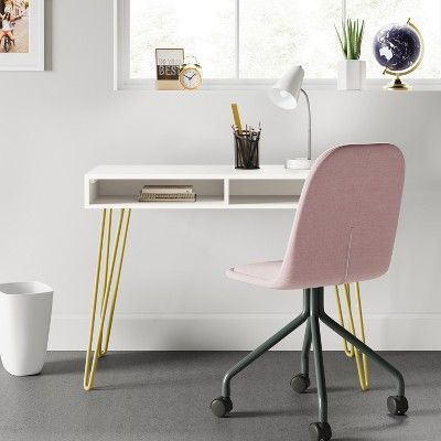 Fabulous Hair Pin Desk White Room Essentials Bedroom Desk Desks Pabps2019 Chair Design Images Pabps2019Com