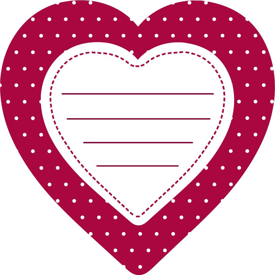 Открытка сердце распечатать