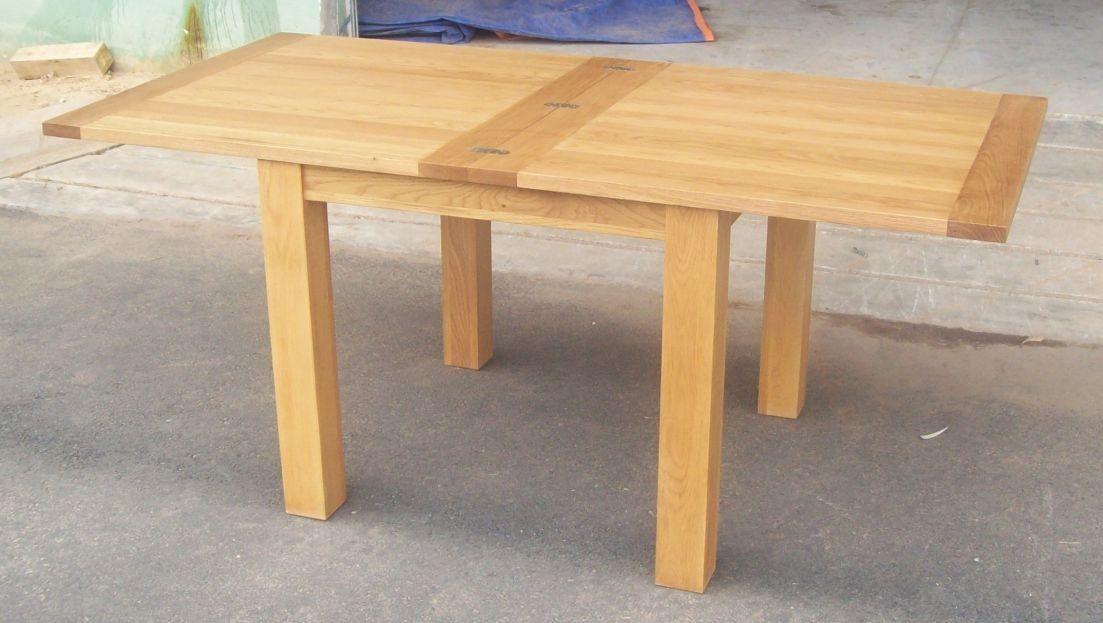 Dining Tables Flip Top Square Oak Table Shown Below 100cm X 50cm Extending