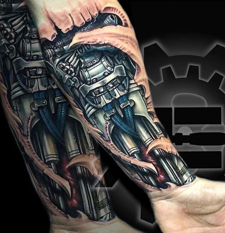 Biomedical Biomechanical Tattoo Mechanic Tattoo Biomechanical Tattoo Arm