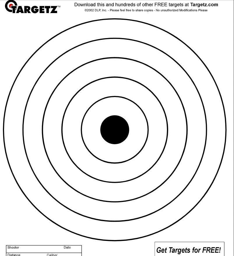 Blancos Imprimibles Proyectos Que Intentar Shooting Targets