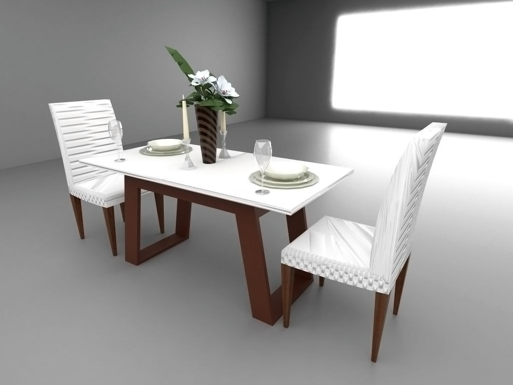 Dining Table Render In Sketchup Vray Dining Table Home Decor Table