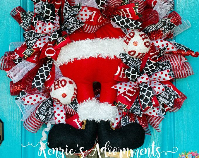 The Grinch Wreath, Christmas Wreath, Deco Mesh Christmas Wreath