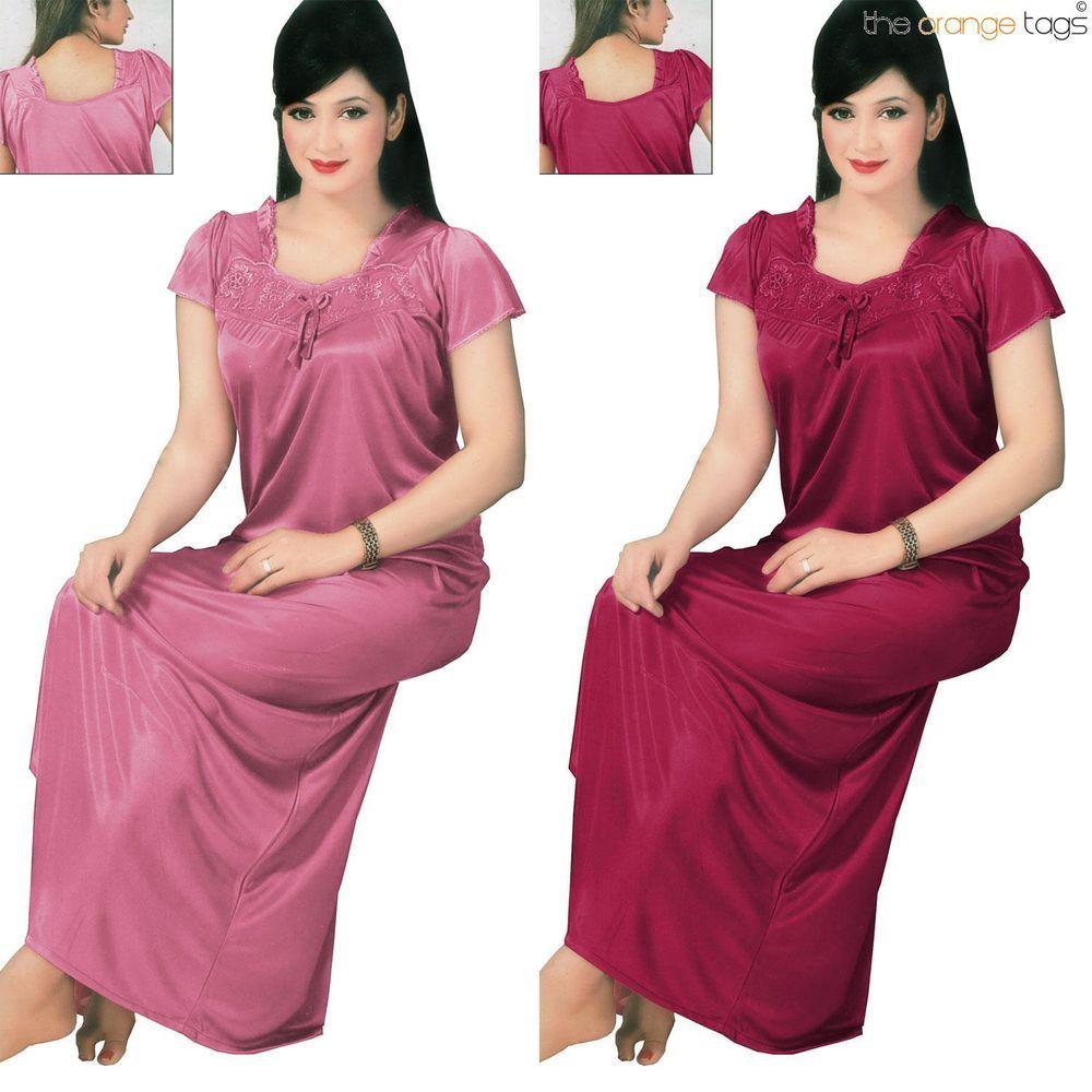 Ladies New Floral print V Neck Short Sleeve Nightdress// Nightie//Nightwear  8-14