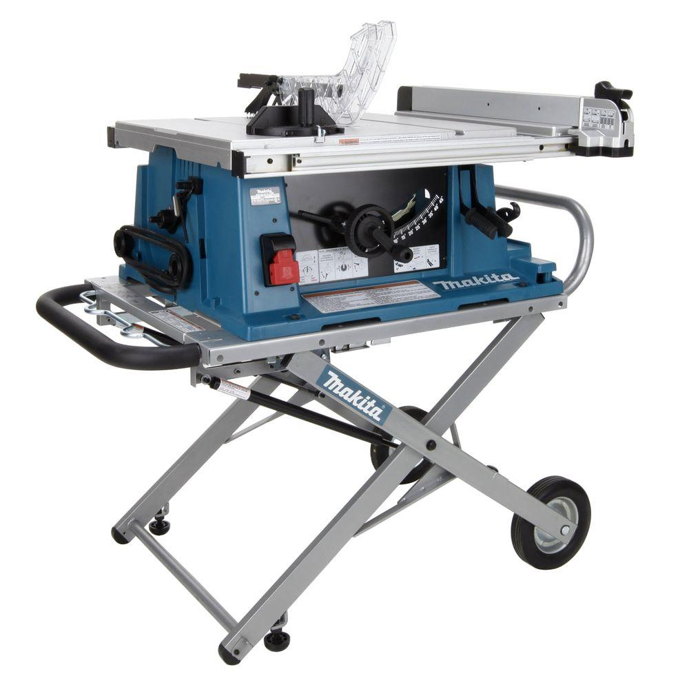 Makita 15 Amp 10 In Corded Contractor Table Saw With Portable Stand 25 In Rip Capacity And 32t Carbide Blade 2705x1 Diy Table Saw Contractor Table Saw Hybrid Table Saw