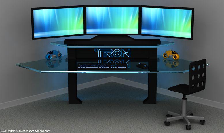 Tron Gaming Desk Gaming Desk Diy Computer Desk Gaming Desk Build