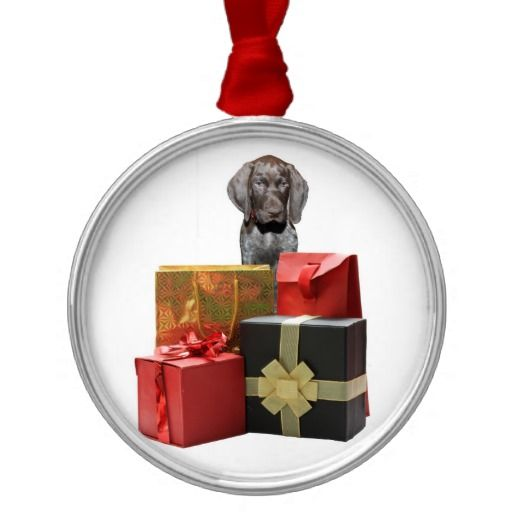 Pointer Puppy Christmas Gifts Christmas Tree Ornament Puppy