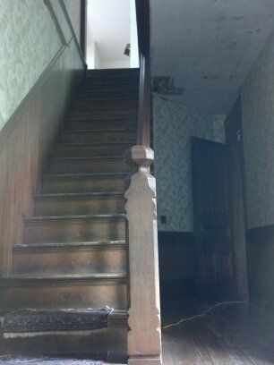 Second Floor Stairway Leading Into The Sweeping Third Floor Living Quarters The Door On The Far Right Leads Into Ravenclaw Aesthetic Real Horror Resident Evil