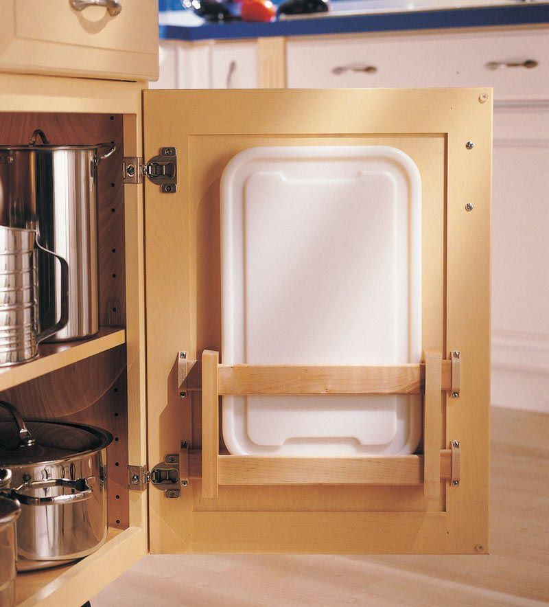 Storage solutions details cutting board door rack for Kraftmaid storage solutions