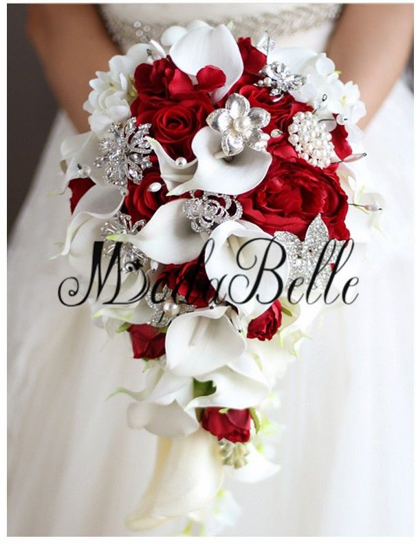 Image Result For Calla Lily And Rose Bridal Bouquet Red Bouquet