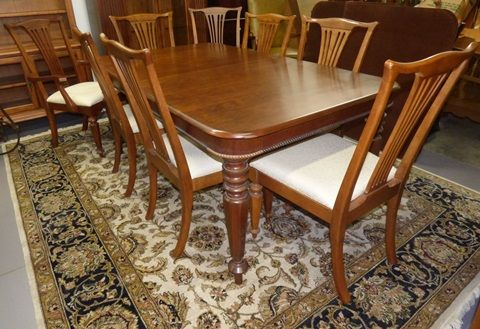 Pennsylvania House Old Havana Dining Table With 8 Chairs Marva S