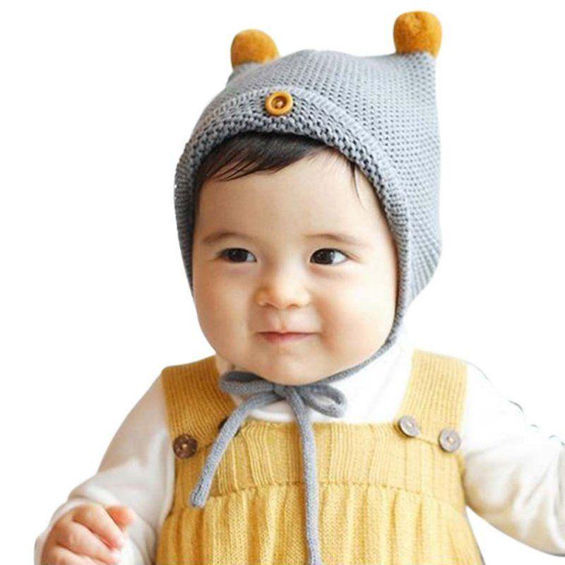 Cute Newborn Toddler Girls Boys Baby Infant Warm Knit Hat Cotton Beanie Cap Kids
