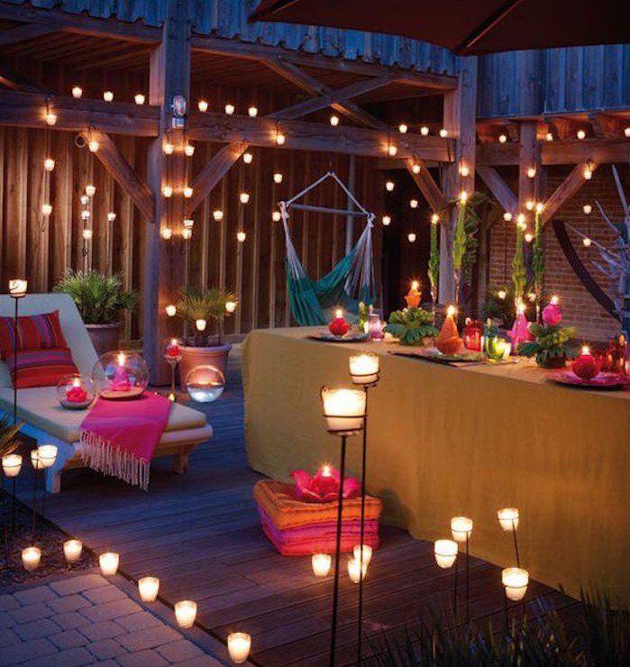 1001 id es bougies romantiques luminaire pas cher et for Luminaire terrasse bois