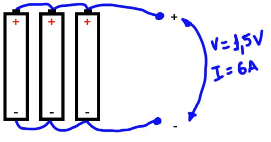 Associacao Em Paralelo De Baterias Bateria Associacao Em Serie Componentes Eletronicos