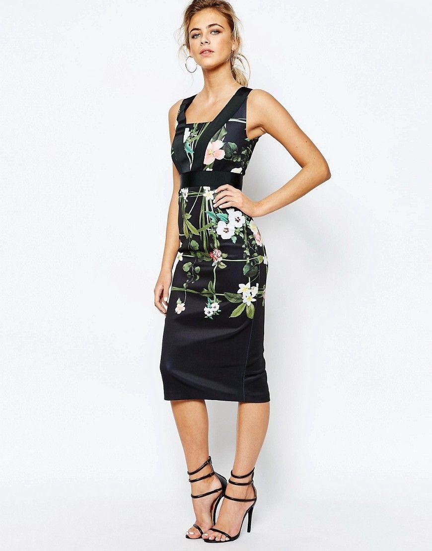 193b8b149177da Fashion · Ted+Baker+Secret+Trellis+Elastic+Dress