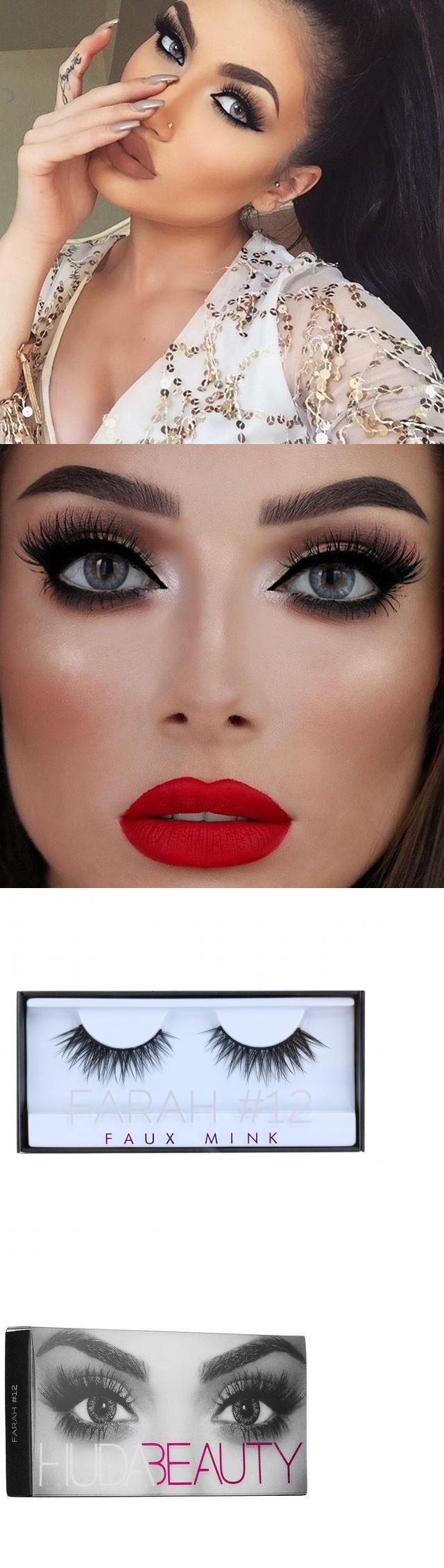 7b9986f09b2 False Eyelashes and Adhesives: Huda Beauty Faux Mink Eyelashes Farah #12  New In Box Authentic BUY IT NOW ONLY: $35.5
