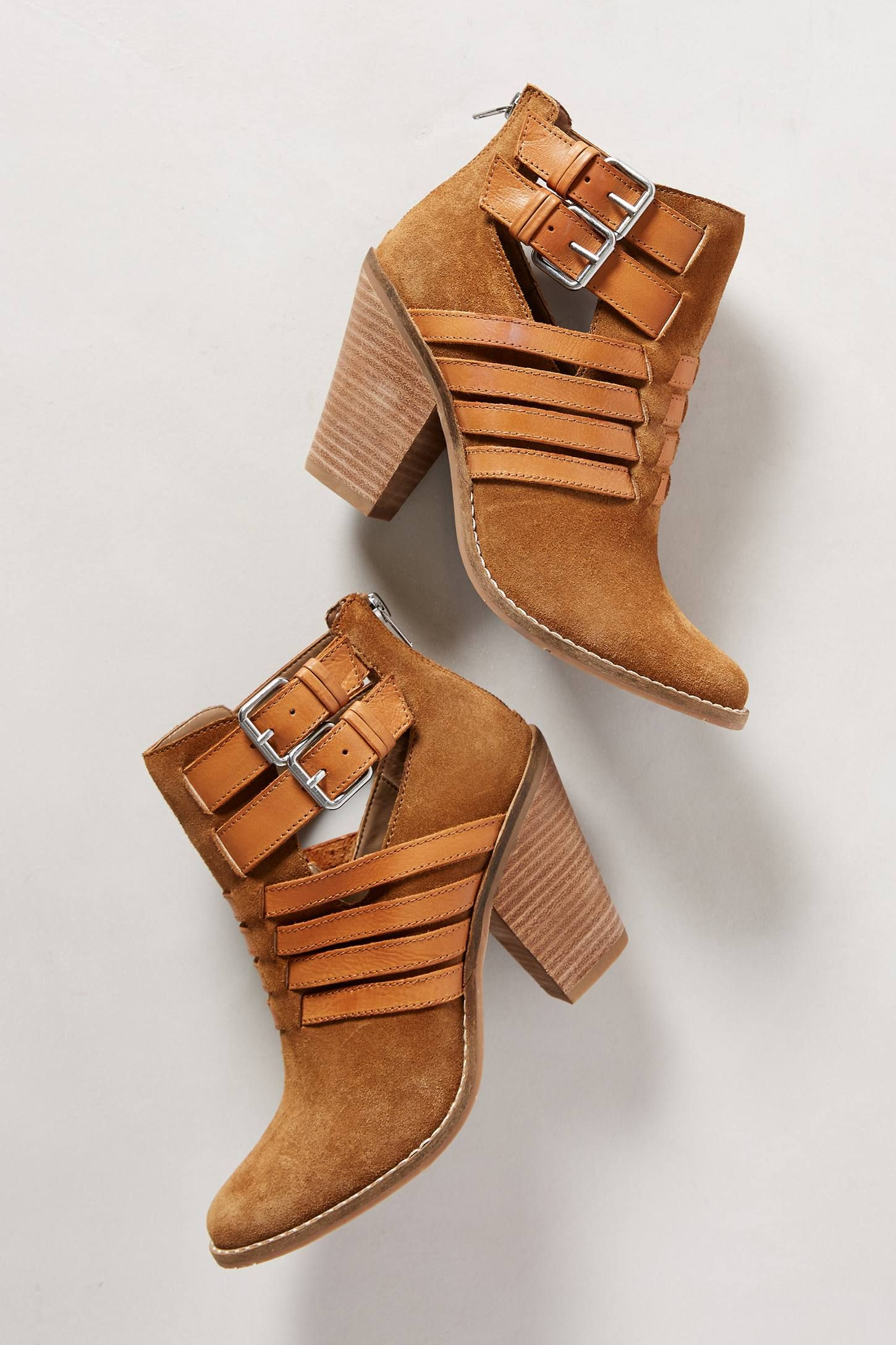 """- From DV by Dolce Vita - Fits true to size - Back zip - Leather upper - Synthetic insole, sole - 3.5"""" synthetic heel - 4""""H - Imported"""