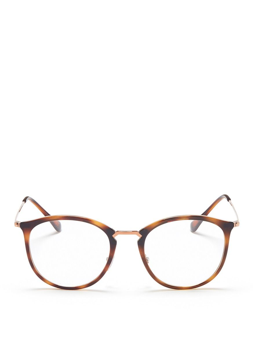 13cab2abe34 Ray Ban  RB7140  metal temple tortoiseshell acetate round optical glasses