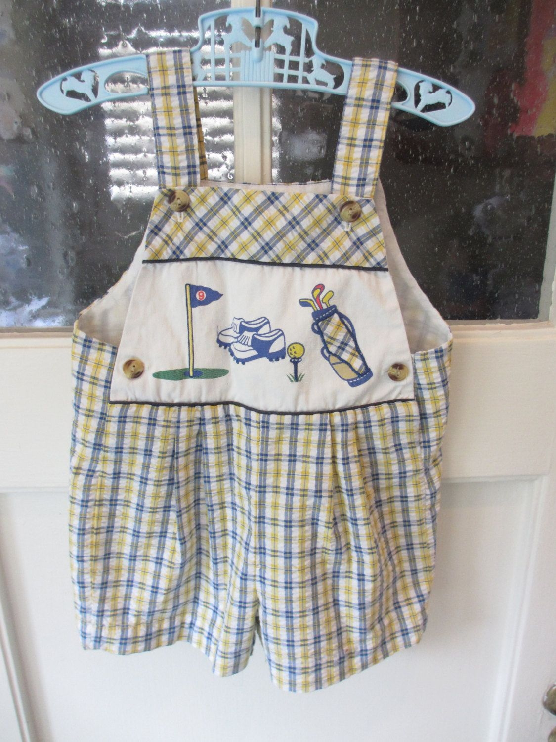 9bc168ff7c6 Vintage Toddler Plaid Overalls by MemphisNanney on Etsy. Find this Pin and  more on Vintage Baby Clothes ...